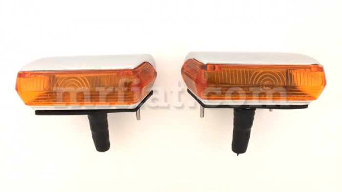 Siata Spring Glas 1300 1700 GT Orange Front Lights Set