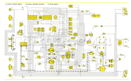 ferrari dino 246 gt gts e series wiring diagram 59x84 cm rh mrfiat com Ferrari 250 GTO Ferrari Daytona Spyder