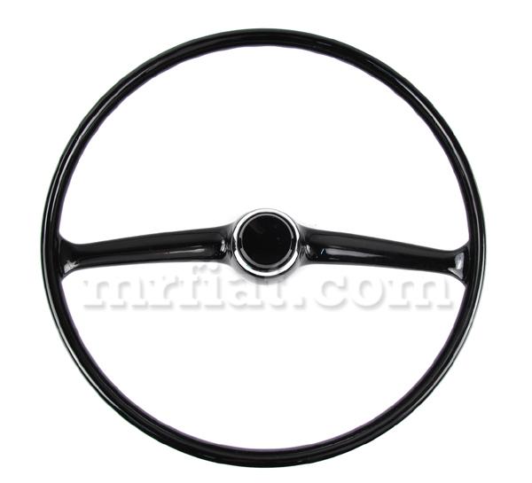 fiat 500 black steering wheel w   horn button new