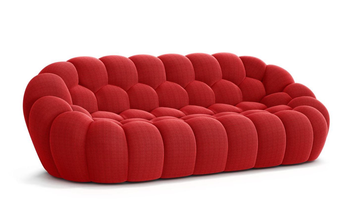 Bubble Sofa Roche Bobois details about roche bobois bubble large 3 seat sofa red new