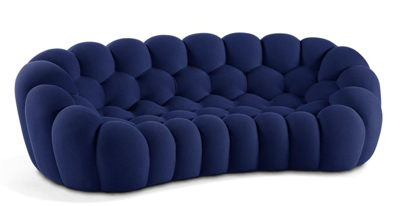 Bubble Sofa Roche Bobois details about roche bobois bubble 2 curved 3-4 seat sofa zeffiro new