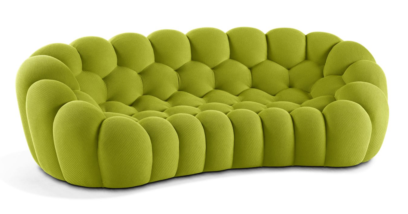 Bubble Sofa Roche Bobois details about roche bobois bubble 2 curved 3-4 seat sofa topazio new