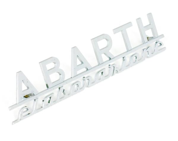 Fiat Abarth Elaborazione Script Emblem 125 Mm New