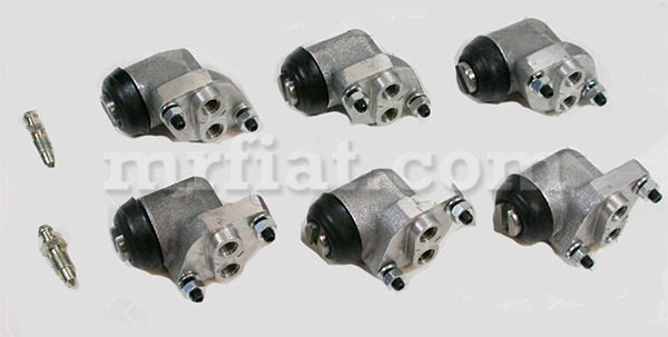 alfa romeo giulia giulietta spider 3 shoe front brake cylinder set 6 pcs new ebay. Black Bedroom Furniture Sets. Home Design Ideas