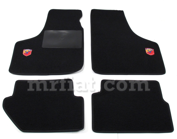 Fiat 500 600 Black Abarth Floor Mats Set New Ebay