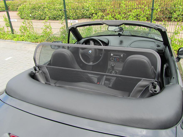 Details about bmw z3 roadster 1996 2003 wind deflector w 8 mm holes