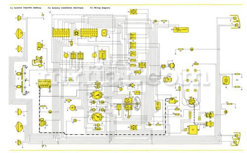 Ferrari Dino 246 Gt Gts E Series Wiring Diagram 59x84 Cm