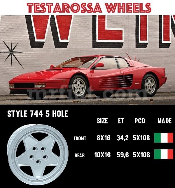 Ferrari Testarossa Front Wheel 8x16 New Ebay