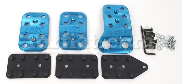 fiat 500 blue aluminum pedal kit new ebay. Black Bedroom Furniture Sets. Home Design Ideas