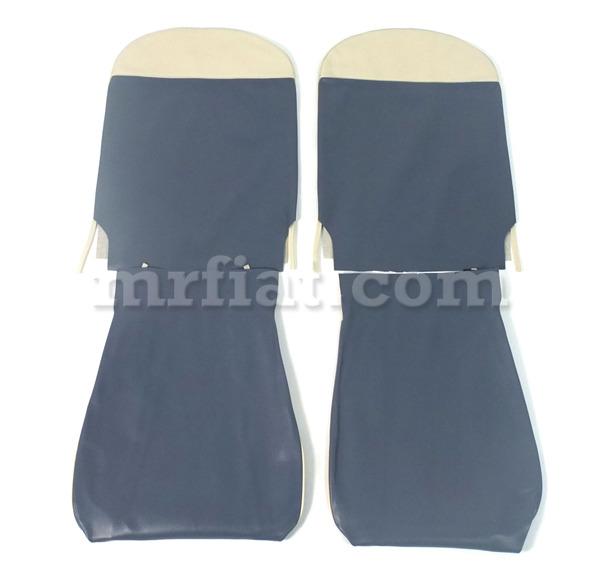 Fiat 500 N D F Blue Seat Covers Set New