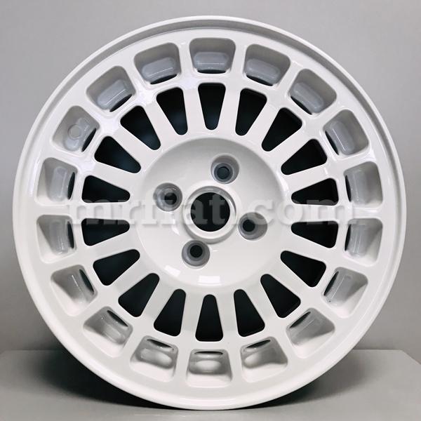 lancia delta montecarlo hf integrale 7.5 x 16 5x98 white replica wheel new    ebay  ebay