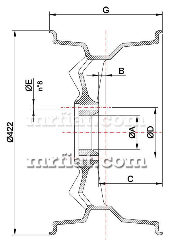 de tomaso pantera gr4 magnesium campagnolo front wheel 10x15 u0026quot  new