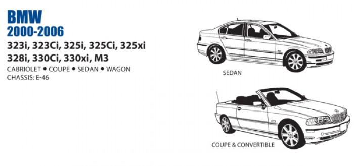 BMW 318 320 323 325 328 M3 Rear Coupe Vinyl Seat Cover Set 2000-06 OEM