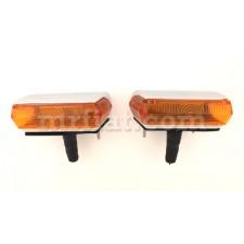Siata Spring Glas 1300 1700 GT Orange Front Lights Set