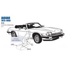 Jaguar XJS Front Leather Seat Cover Set 1988-94 OEM