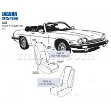 Jaguar XJS Front Leather Seat Cover Set 1994-96 OEM