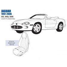 Jaguar XK XK8 XKR Front Leather Seat Cover Set 1997-00 OEM